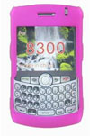 Pink Rubber Snap-on Crystal Case For Blackberry 8300 Curve