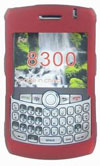 Red Rubber Snap-on Crystal Case For Blackberry 8300 Curve