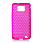 Pink TPU SILICON RUBBER SKIN CASE for Samsung i9100 Galaxy S II