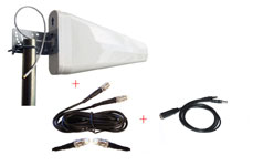 Sierra Wireless AirCard 802S 803S 4G LTE Tri-Fi Mobile Hotspot Wide Band External Log Periodic yagi antenna highest gain